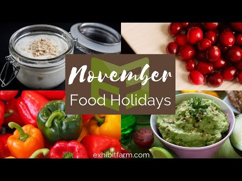 November Food Holidays: National Pepper Month and More