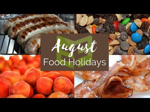 August Food Holidays: National Peach Month and More