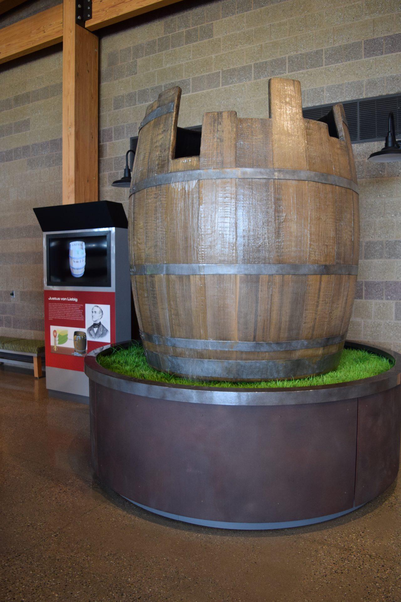 Liebig's Law Barrel Display 03