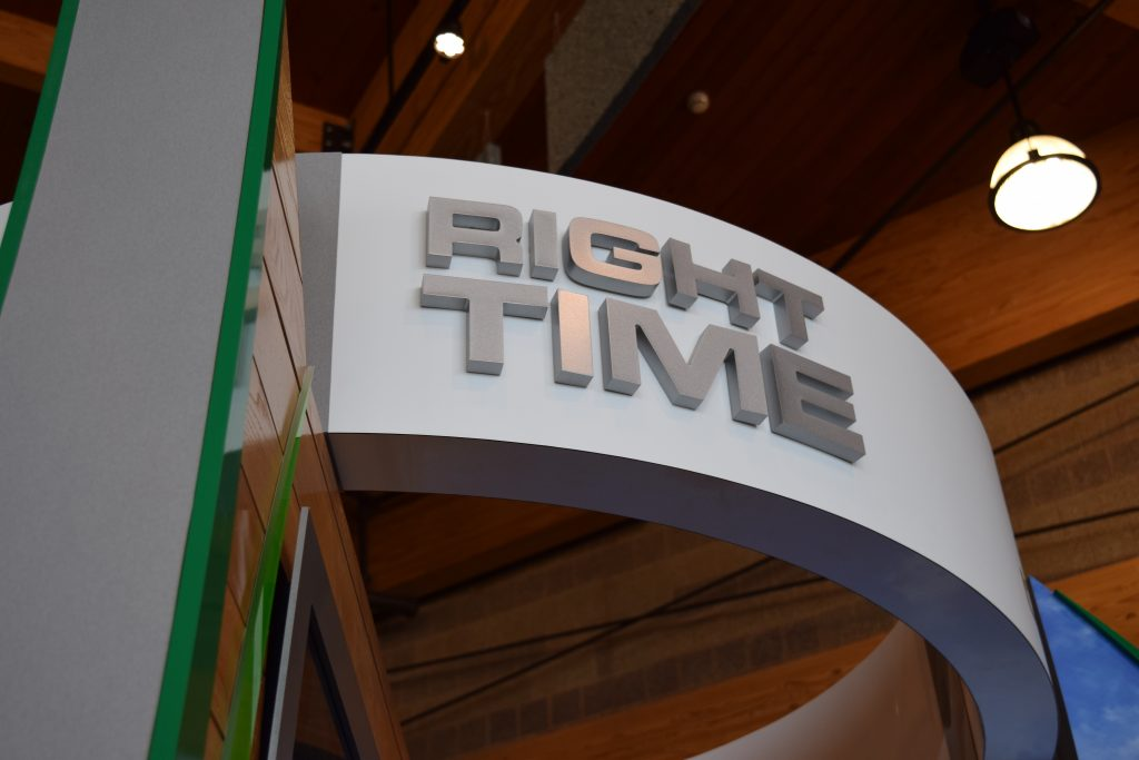 """Right Time"" Sign"