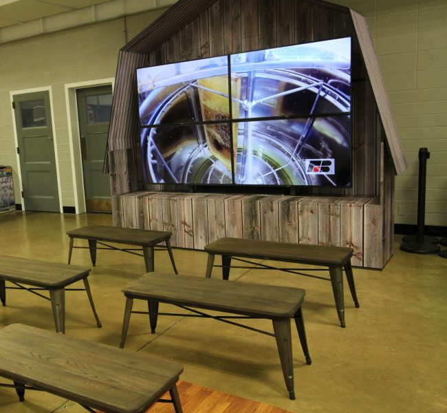 Barn TV Mount and Benches