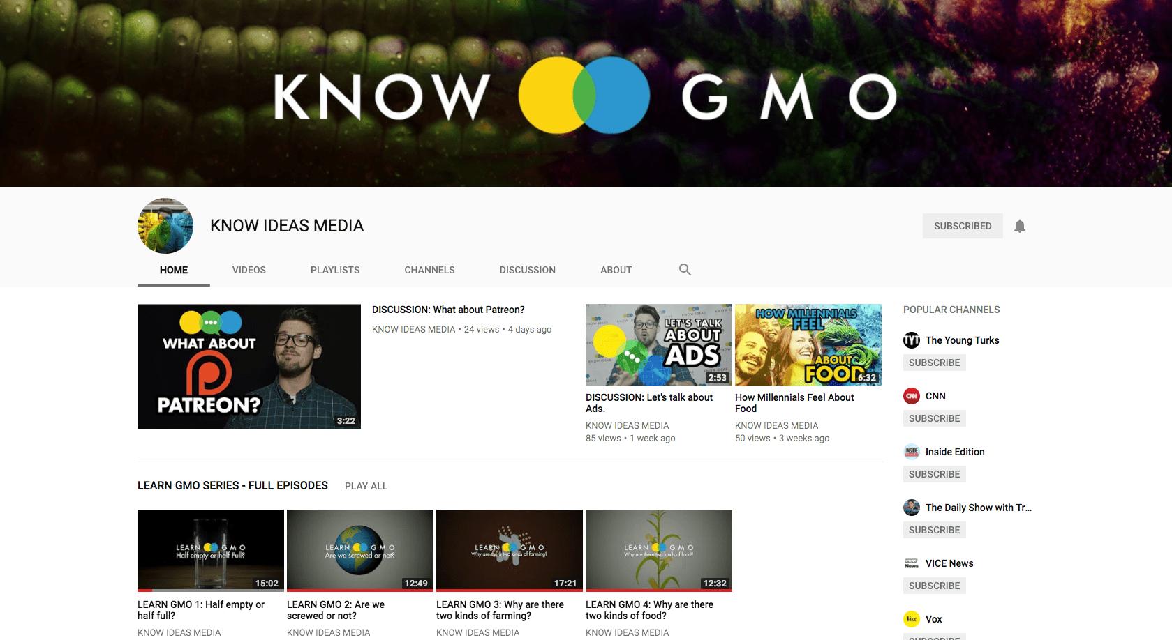 Know GMO Channel Screenshot