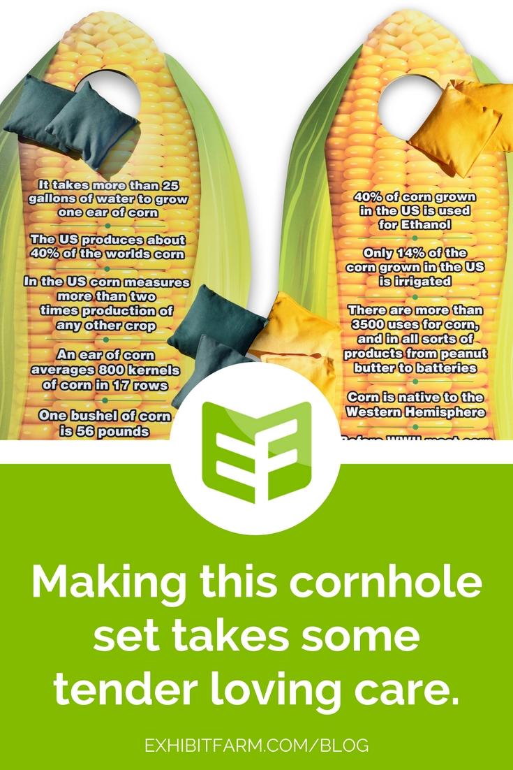 Making of Corny Cornhole Post