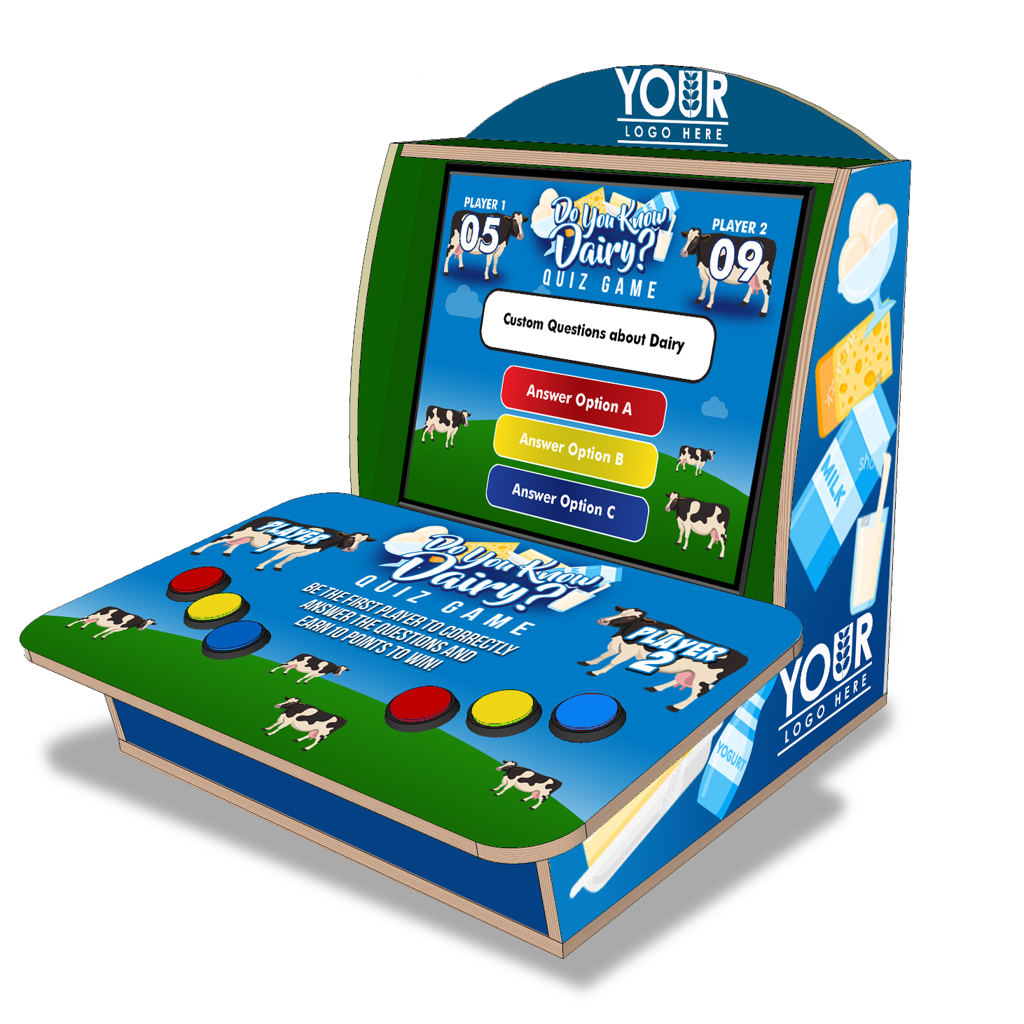 Dairy Tabletop Trivia Quiz Game Product Photo