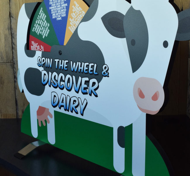 Tabletop Dairy Cow Display