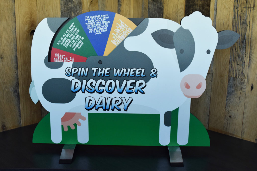 Tabletop Dairy Cow Display (Wheel Side)