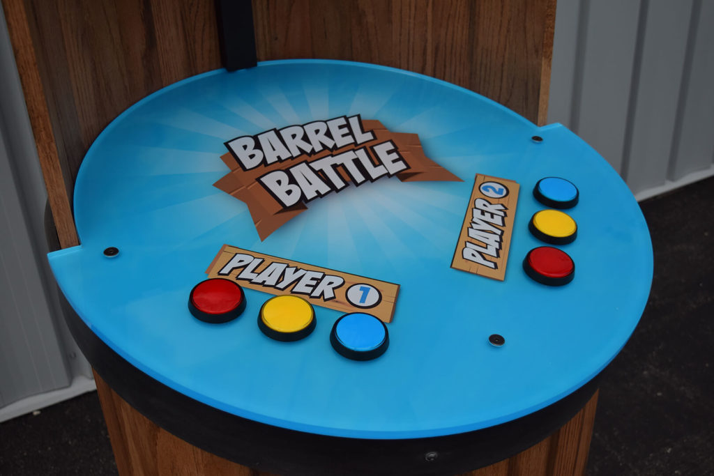 Buttons on the Barrel Battle game testing plant nutrient knowledge