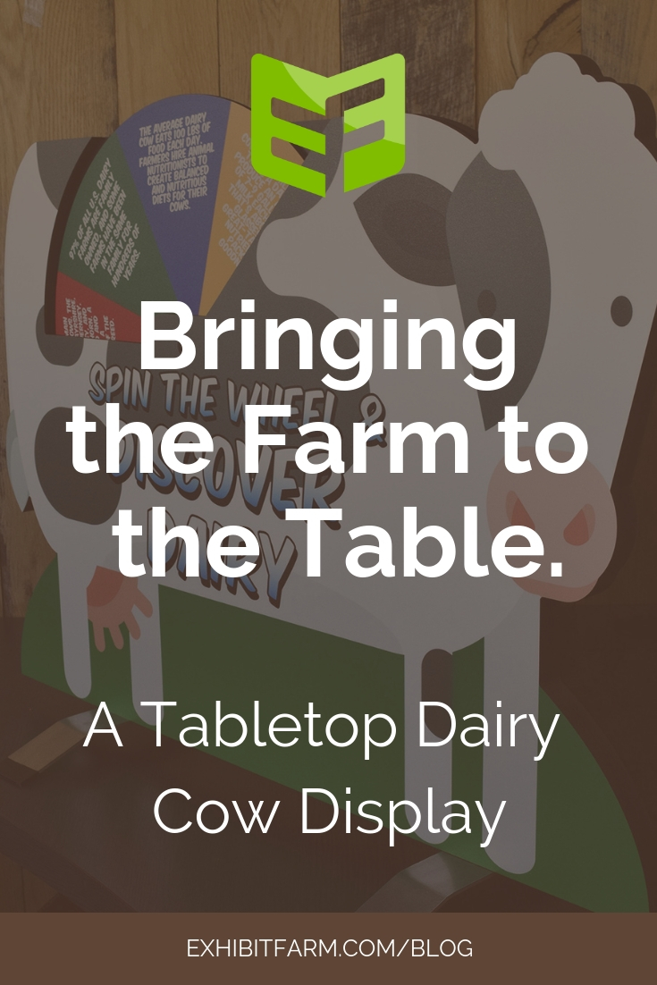 Tabletop Cow Display Promo