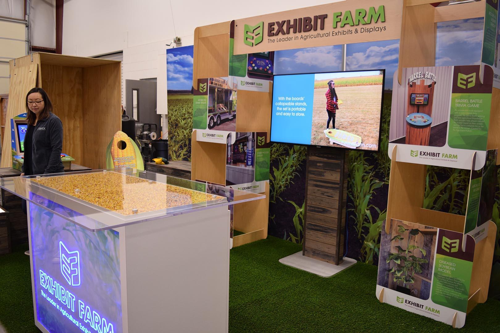 Full Exhibit Farm Booth