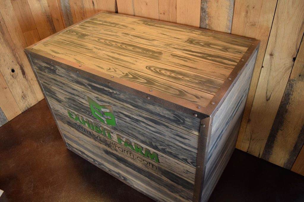 Exhibit Farm Booth Crates (trade show furniture)