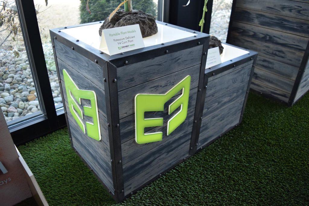Exhibit Farm LED-Lit Display Crates (trade show furniture)