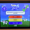 Screen on the dairy trivia game, showing a correct answer