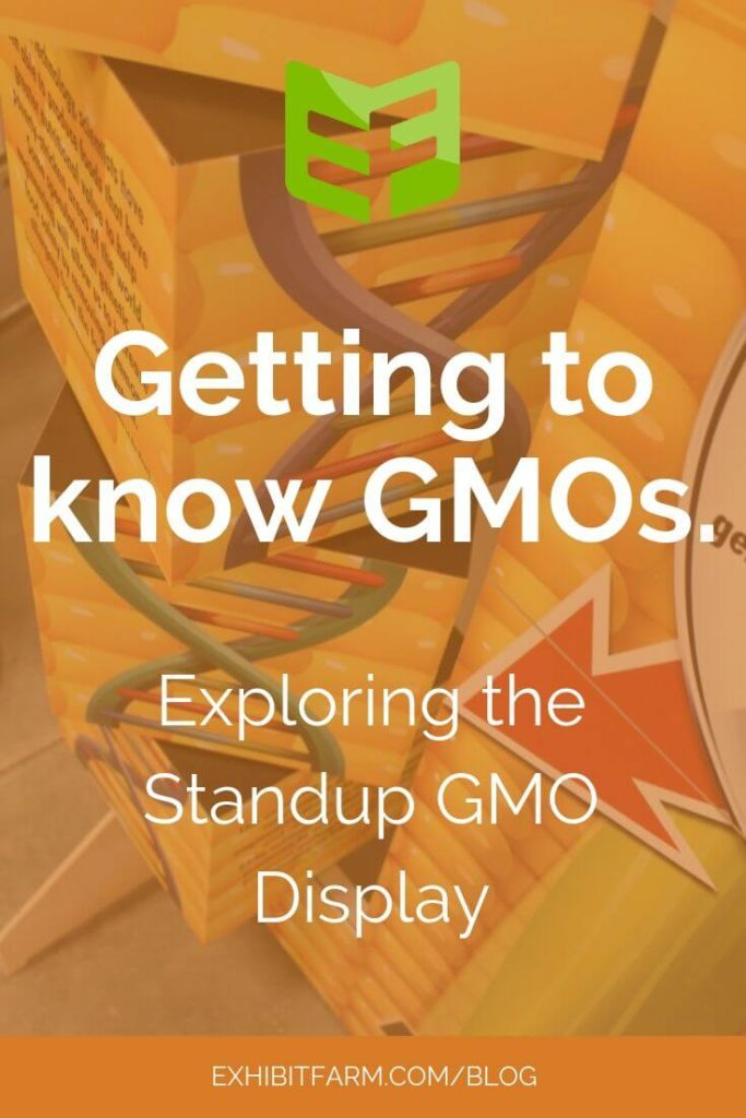 "Promotional graphic for blog post reading: ""Getting to know GMOs: Exploring the Standup GMO Display"""
