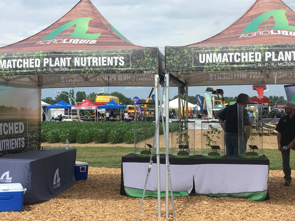 Exhibit Farm products on display at the 2019 AgroExpo in St Johns Michigan
