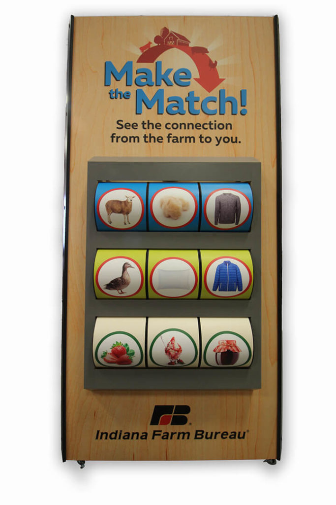 Front view of Make the Match display on a white background