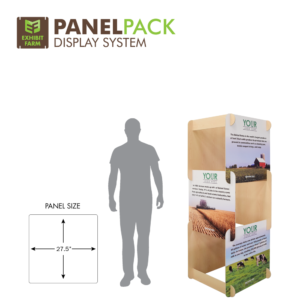 Six-foot version of Exhibit Farm's PanelPACK display