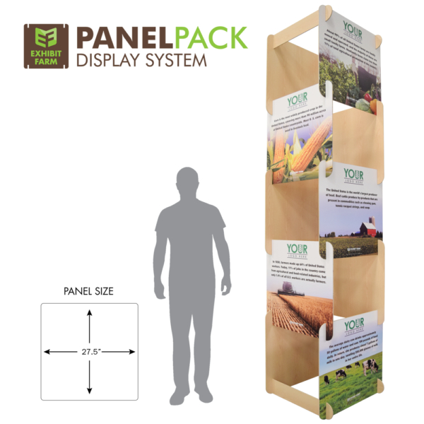 10 foot display tower (part of Exhibit Farm's PanelPACK display)