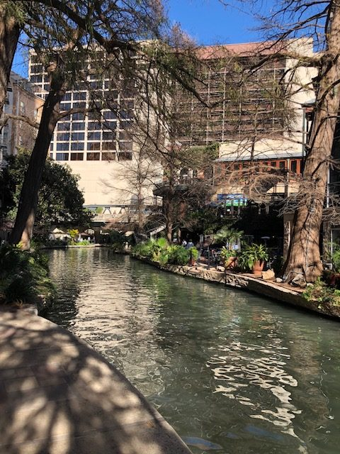 View of the San Antonio Riverwalk, taken at the 2020 Commodity Classic