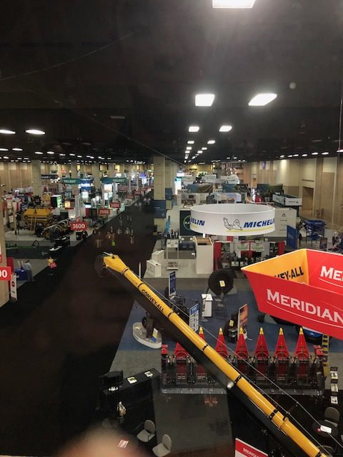 View of 2020 Commodity Classic trade show floor from above.