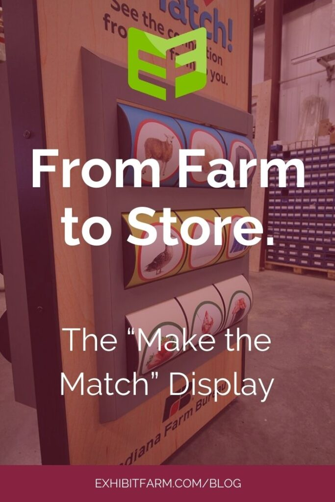 """Pink graphic; text reads """"From Farm to Store: The Make the Match Display"""""""