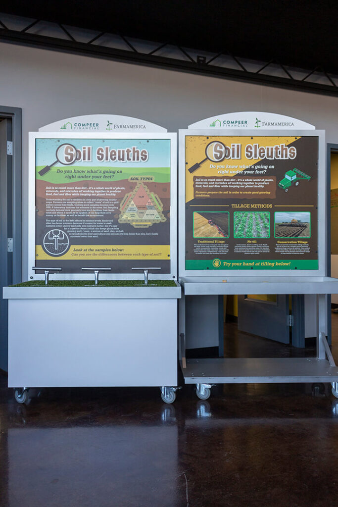 Full-length photo of the soil sleuths displays
