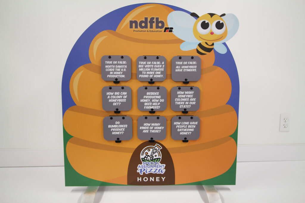 Tabletop display about honey