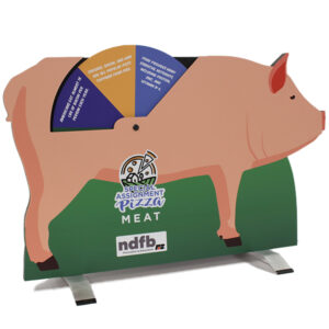 Tabletop pig display in the shape of a hog