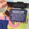 Closeup of fact panel about farmers' use of smartphone technology